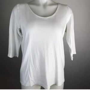 Eileen Fisher Elbow Sleeve Tee Shirt